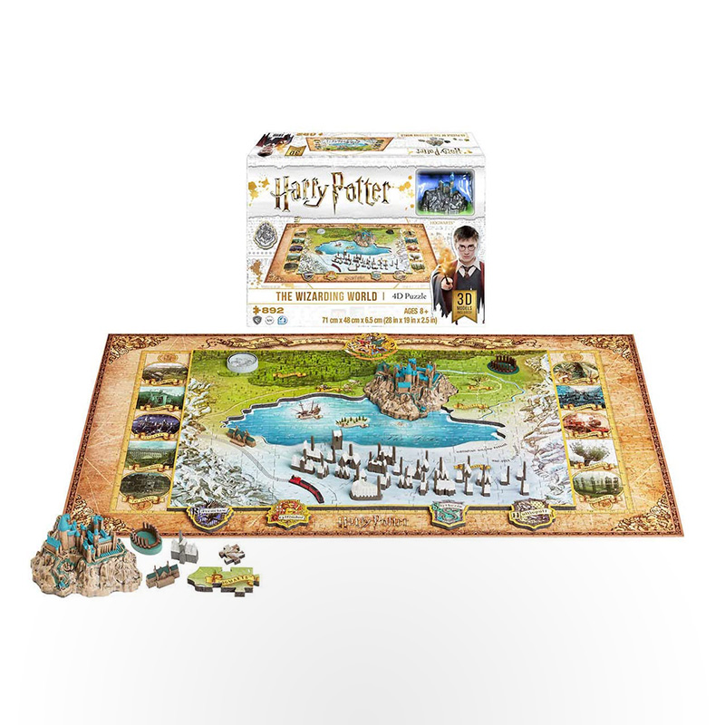 4D Puzzle - Harry Potter Wizarding World of Hogwarts and Hogsmead (892+ pcs)