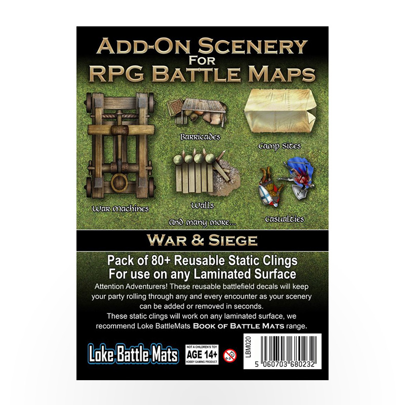Add-On Scenery for RPG Maps - War and Siege