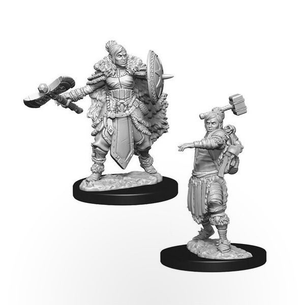D&D Nolzur's Marvelous Miniatures: Half-Orc Female Barbarian