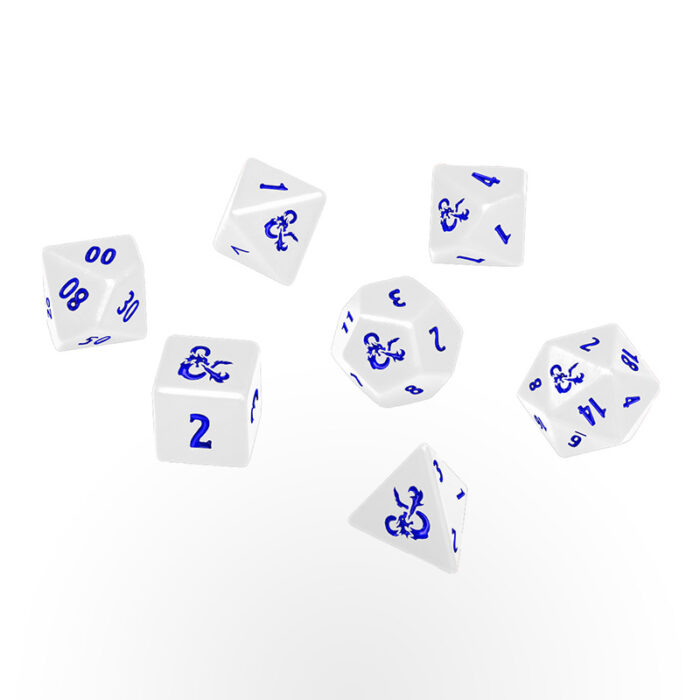 Dungeons & Dragons: Icewind Dale - Ultra-Pro Heavy Metal 7 RPG Dice Set - White