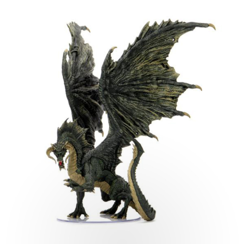 Dungeons & Dragons: Icons of The Realms – Adult Black Dragon Premium Figure