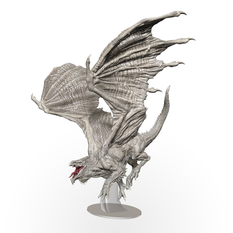 Dungeons & Dragons: Icons of The Realms – Adult White Dragon Premium Figure
