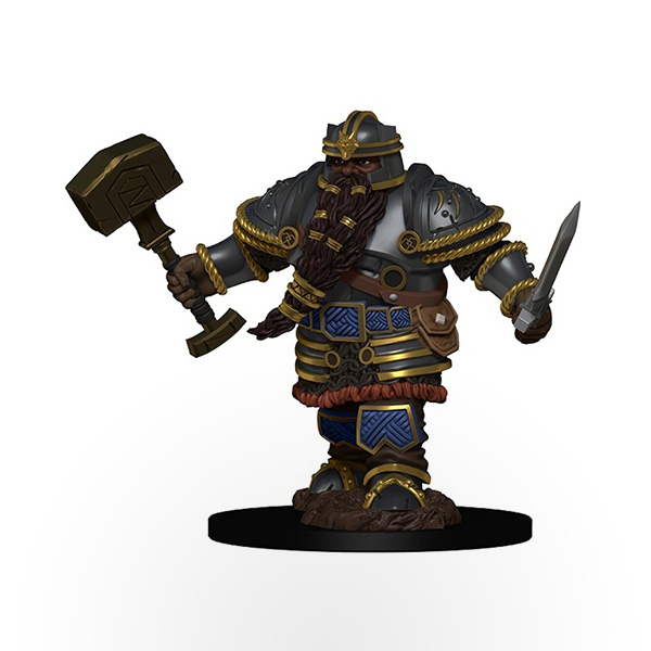 Dungeons & Dragons: Icons of the Realms - Premium Miniatures - Dwarf Male Fighter