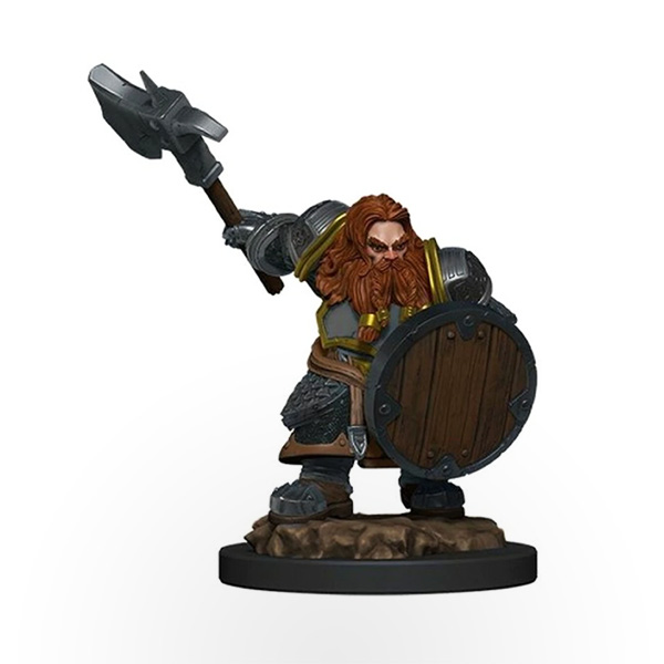 Dungeons & Dragons: Icons of the Realms – Premium Miniatures – Dwarf Male Fighter
