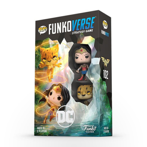 Funkoverse Strategy Game: DC Comics (Wonder Woman & Cheetah) Expandalone