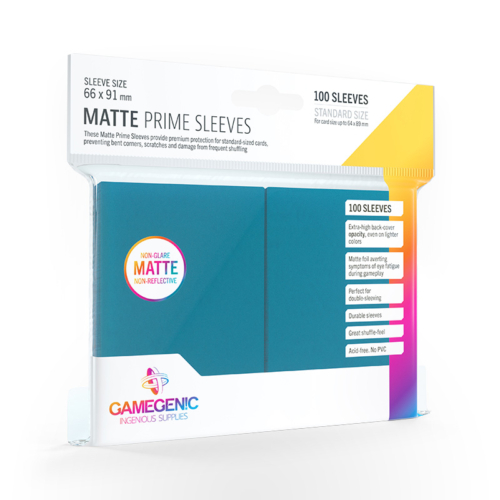 GAMEGENIC Card Game Sleeves: Matte Prime Blue