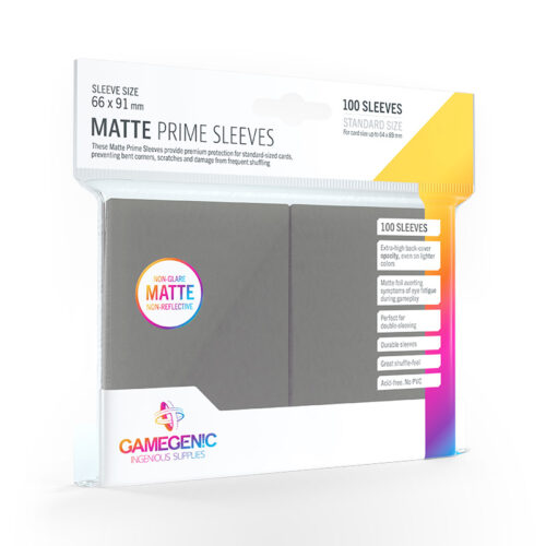GAMEGENIC Card Game Sleeves: Matte Prime Dark Gray
