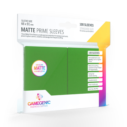 GAMEGENIC Card Game Sleeves: Matte Prime Green