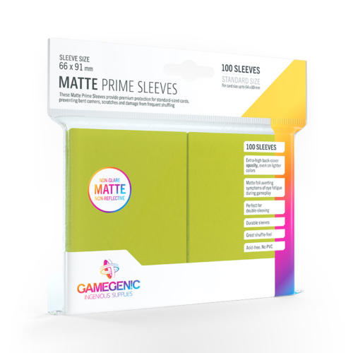 GAMEGENIC Card Game Sleeves: Matte Prime Lime