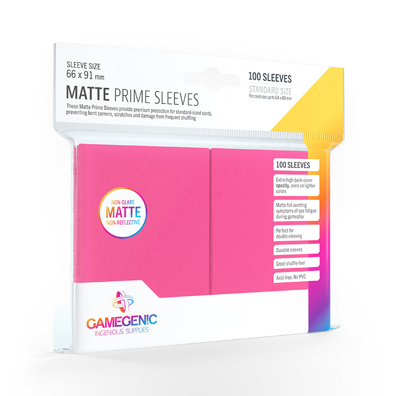 GAMEGENIC Card Game Sleeves: Matte Prime Pink