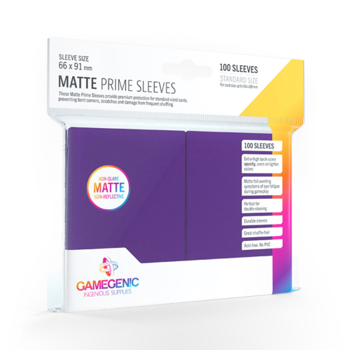 GAMEGENIC Card Game Sleeves: Matte Prime Purple