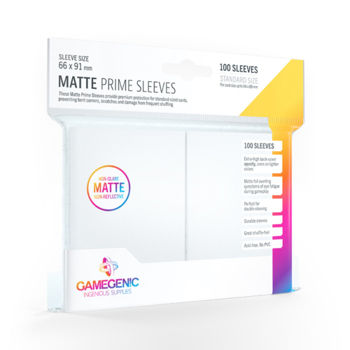 GAMEGENIC Card Game Sleeves: Matte Prime White