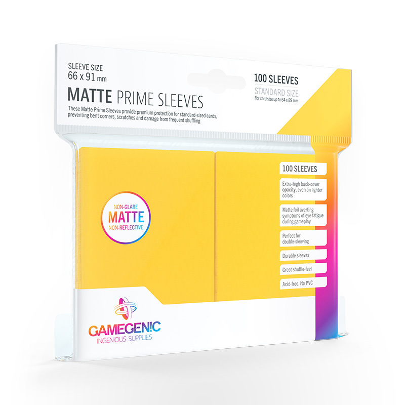 GAMEGENIC Card Game Sleeves: Matte Prime Yellow