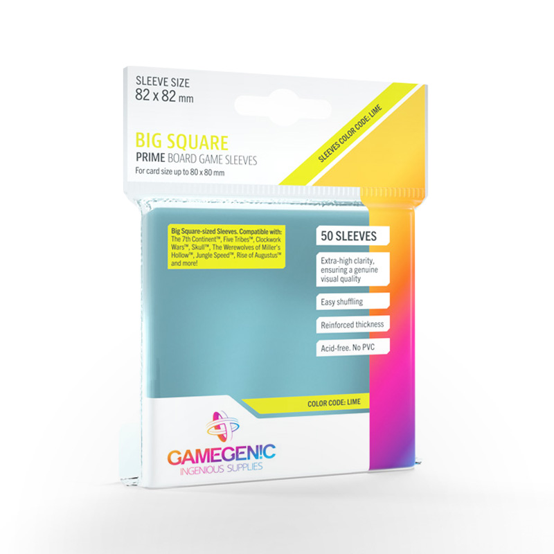 GAMEGENIC Prime Board Game Sleeves - Big Square