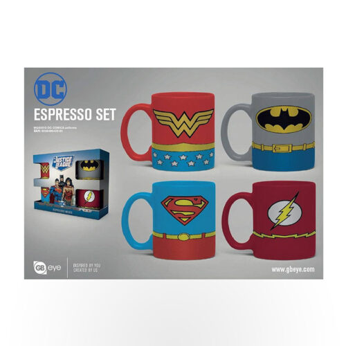 Gbeye Mini Mug Set - DC Comics Uniforms