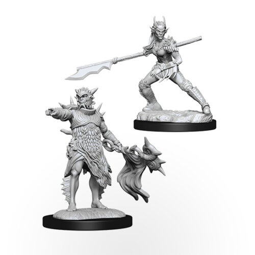 Magic The Gathering Unpainted Miniatures: Coralhelm Commander & Halimar Wavewatch