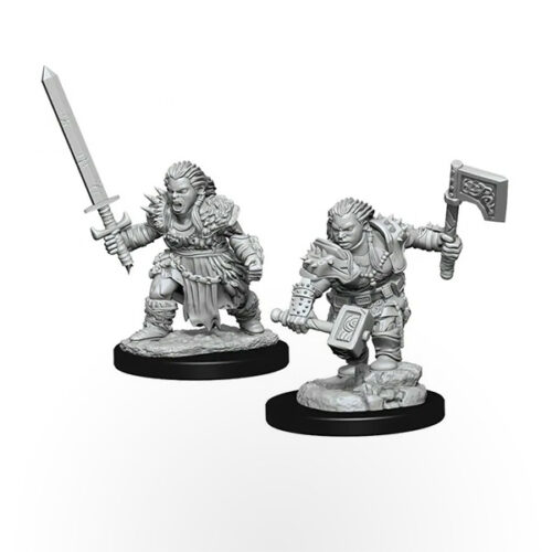 Pathfinder Battles Deep Cuts Miniatures - Dwarf Female Barbarian