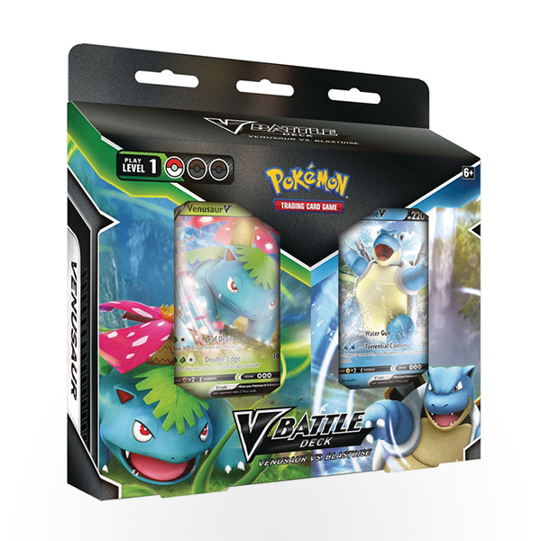 Pokemon TCG: Blastoise V / Venusaur V Battle Deck