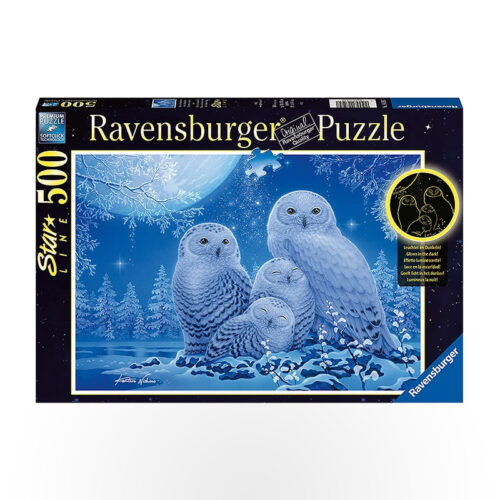 Ravensburger Puzzle - Owls In Moonlight 500pc
