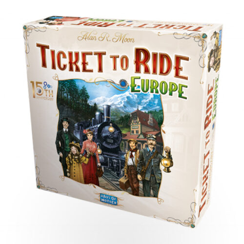 Stalo žaidimas Ticket to Ride: Europe – 15th Anniversary