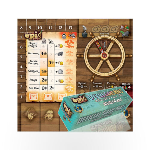 Tiny Epic Pirates Player Mat Sets