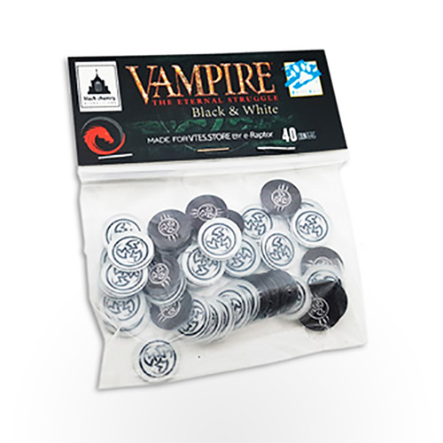 Vampire: The Eternal Struggle - Black and White Token Set
