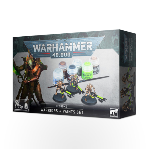 WARHAMMER 40000 Necrons: Warriors + Paints Set
