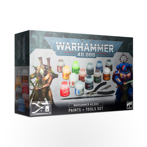 WARHAMMER 40000: Paints + Tools Set