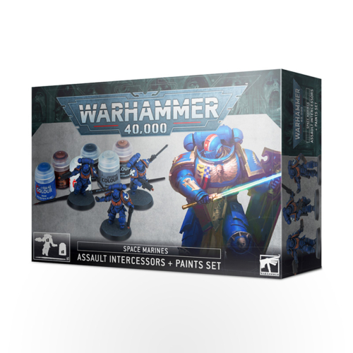 WARHAMMER 40000 Space Marines: Assault Intercessors + Paints Set