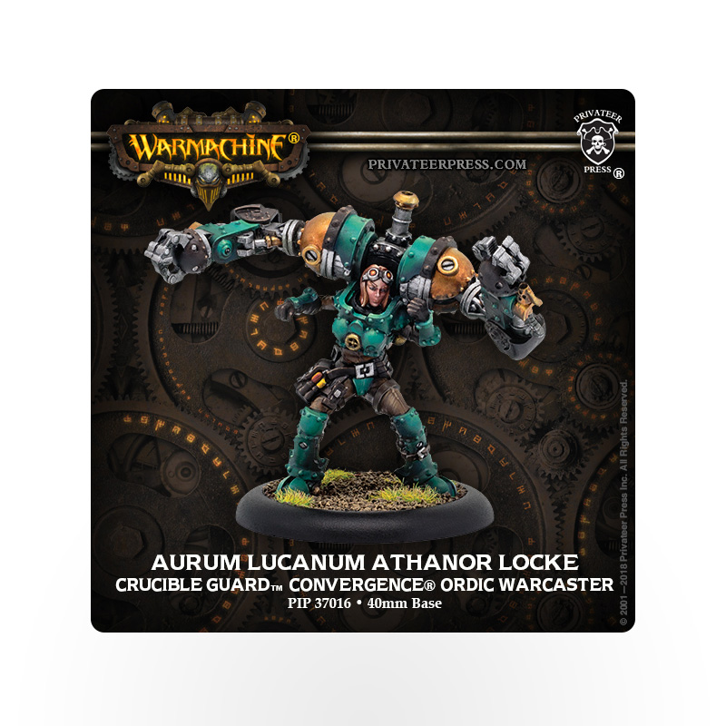 WARMACHINE Crucible Guard Aurum Lucanum Athanor Locke