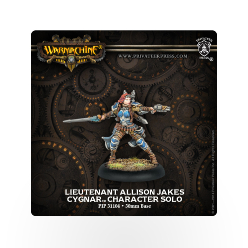 WARMACHINE Cygnar Captain Allison Jakes