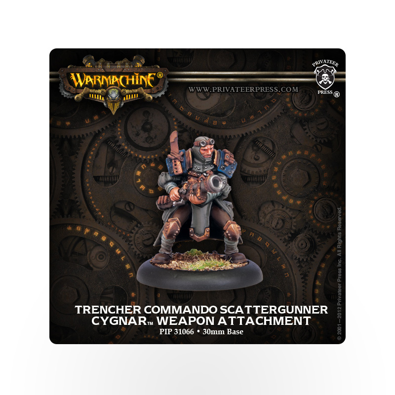 WARMACHINE Cygnar Trencher Commando Scattergunner