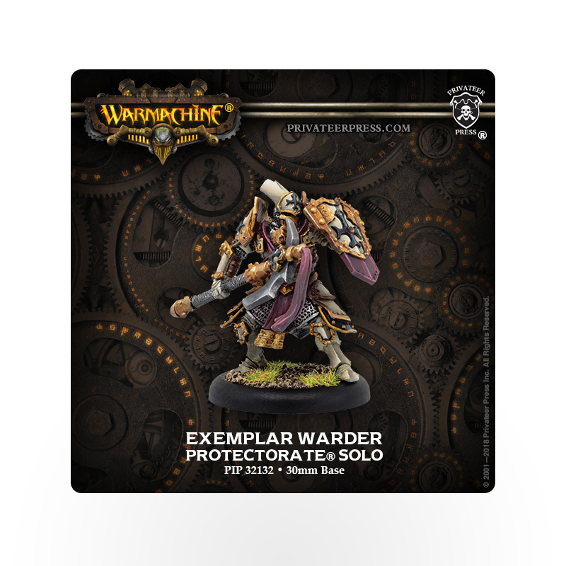 WARMACHINE Protectorate of Menoth Exemplar Warder