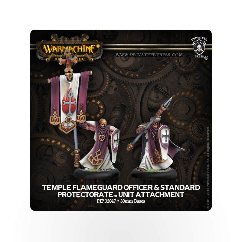 WARMACHINE Protectorate of Menoth Flameguard Officer and Standard