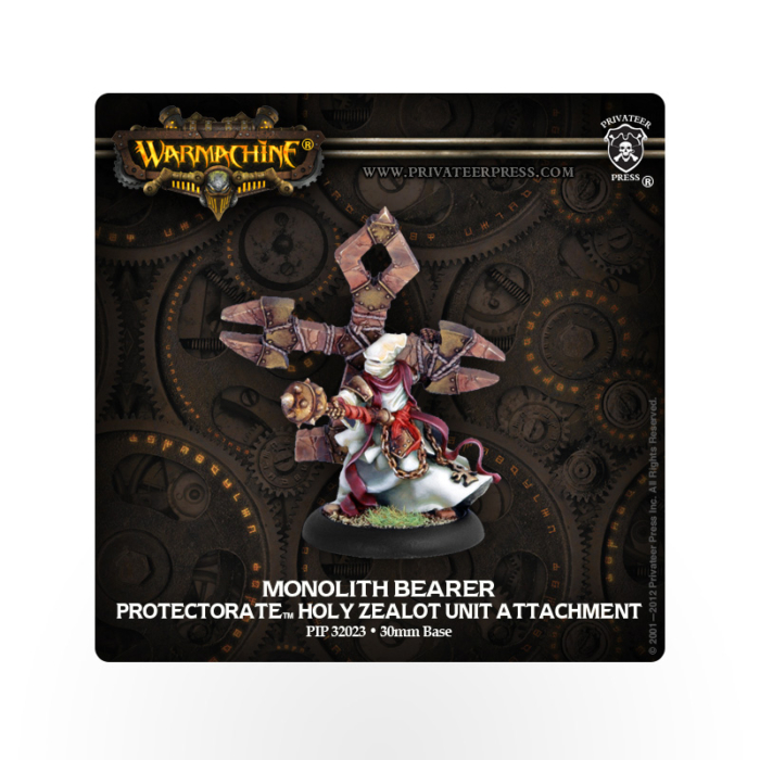 WARMACHINE Protectorate of Menoth Holy Zealot Monolith Bearer